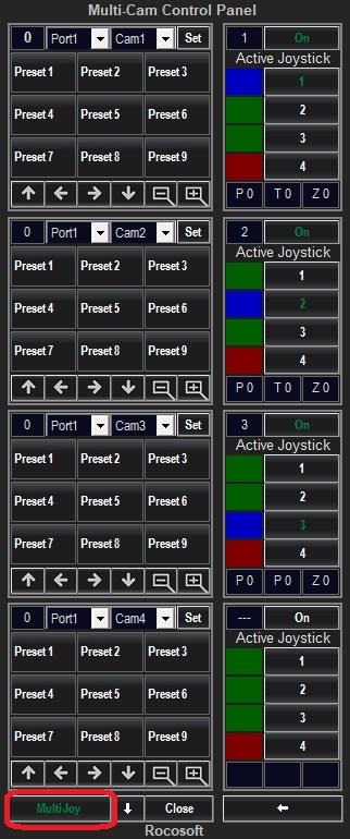 Multi-Joystick Panel