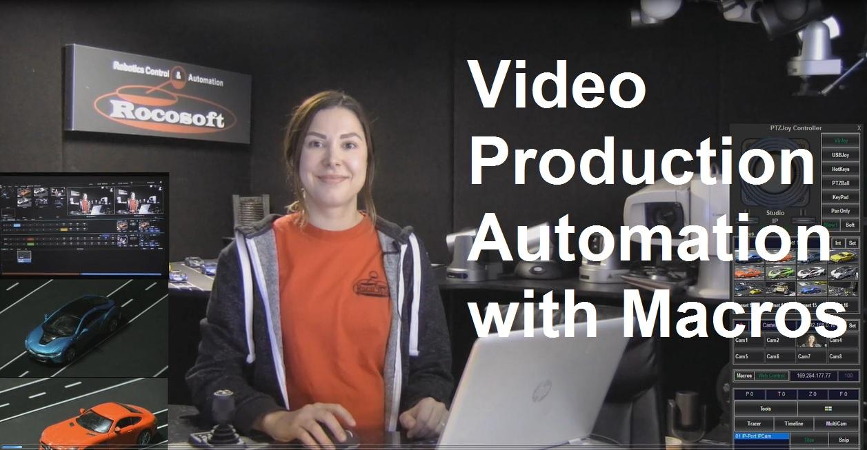 [SNEAK PEAK] Rocosoft Macro Player – Control PTZ Cameras and vMix, TriCaster, Panasonic Live Production Switchers