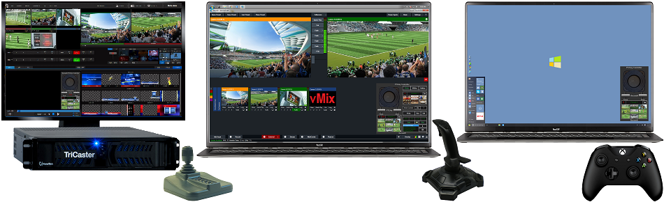 Rocosoft Add Precise Joystick Control to TriCaster vMix Wirecast