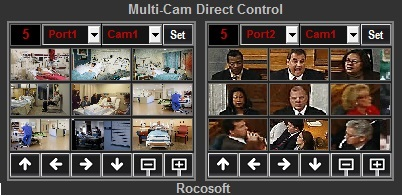 2 Cam Milti-Camera Direct Control Panel
