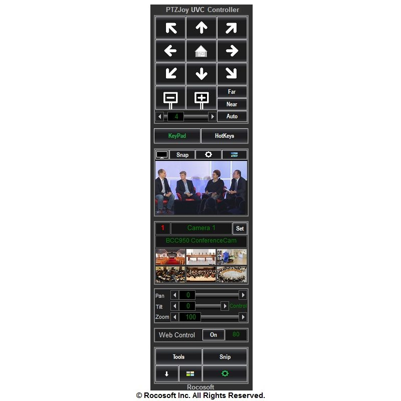 Rocosoft PTZ Controller PTZJoy UVC Software