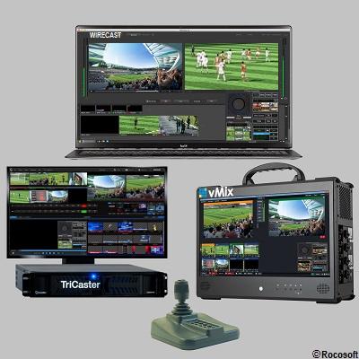 Rocosoft PTZ Controller PTZJoy on TriCaster vMix Wirecast