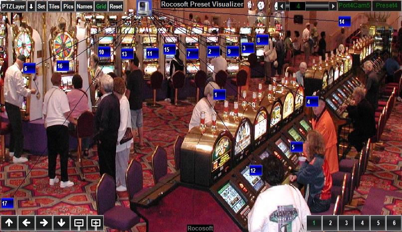 Rocosoft PTZ Visual Pad Controller for Casino