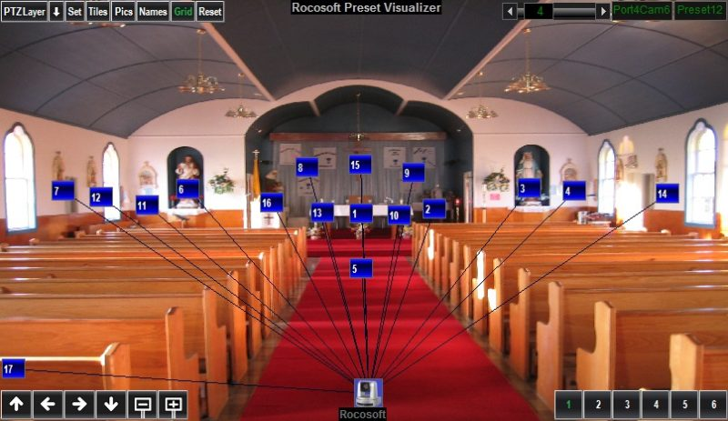 Rocosoft PTZ Visual Pad Controller for Church-2