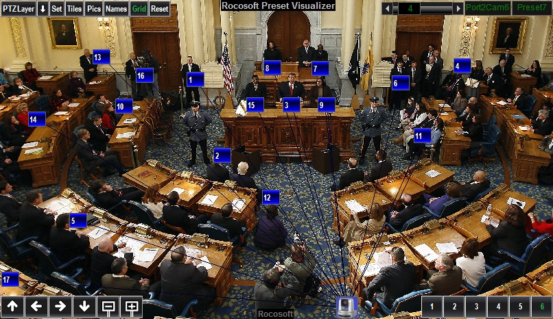 Rocosoft PTZ Visual Pad Controller for Legislature-1