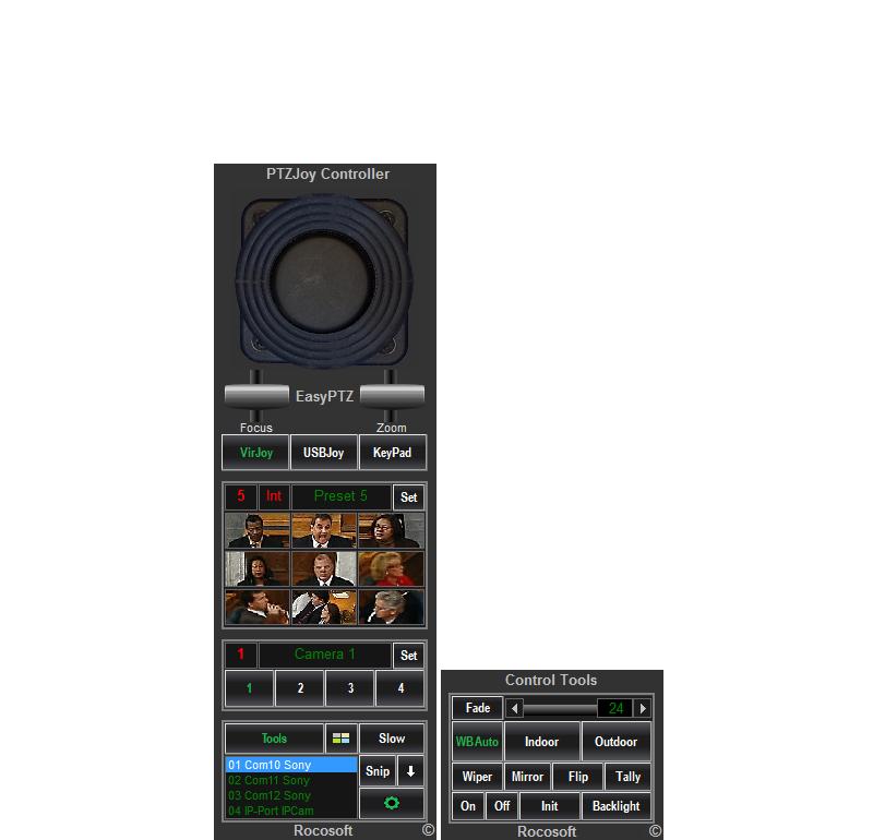 Rocosoft PTZJoy Easy PTZ Controller Software