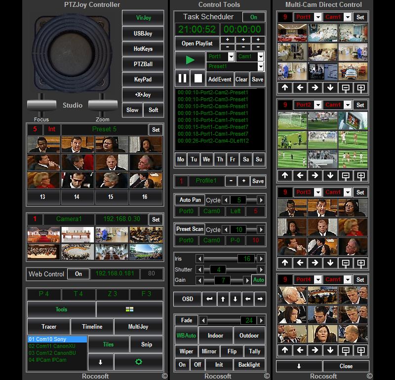 Rocosoft PTZJoy Studio Controller Software
