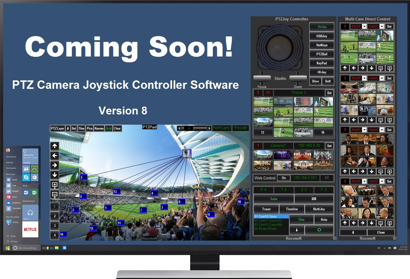 Rocosoft PTZ Camera Controller Software Version 8 Release is Coming Soon