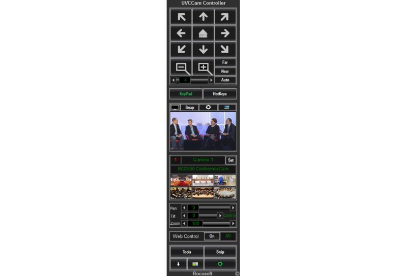 Rocosoft Easy UVCCam UVC PTZ Controller Main Panel