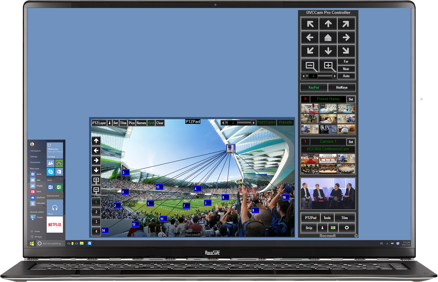 Rocosoft UVCCam Pro Controller on PC